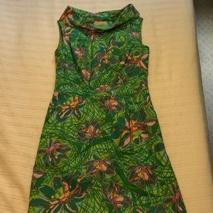 Lilly Pulitzer Dress with Wide Rolled Neckline